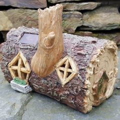 wooden fairy houses