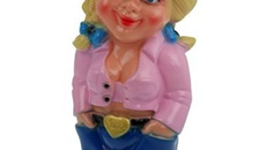 Mandy Garden Gnome, Break-Resistant PVC, Pink, Made in Germany